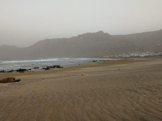 Starnd bei Famara auf Lanzarote