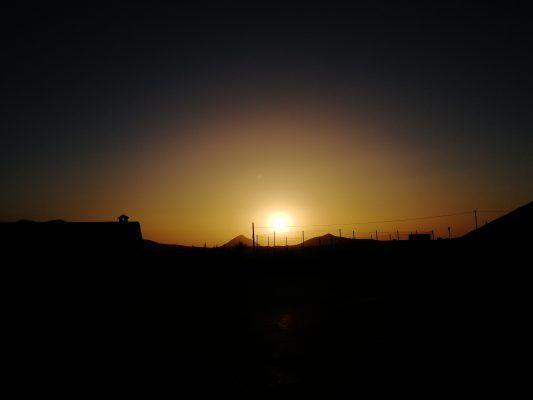 Sonnenuntergang nach einem langen Radtag