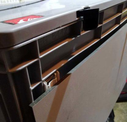 Der eingebaute Küchenbox-Klapptisch