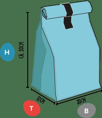 Campervan Packbeutel Maße