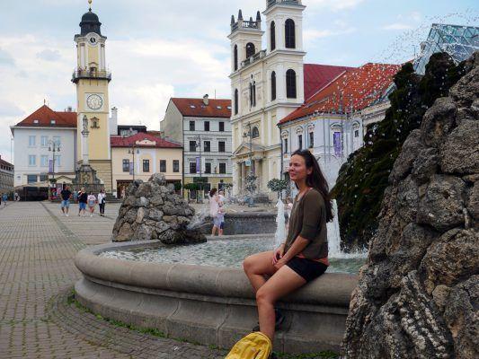Der hauptplatz in Banská Bystrica