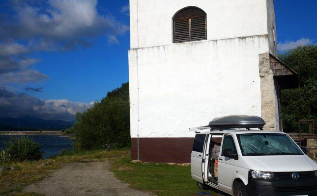 Privatstellplatz an der Liptovská Mara – auch das ist die Slowakei mit dem Campervan