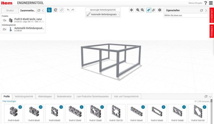 Das Item Engineeringtool hilft bei der Planung von Projekten