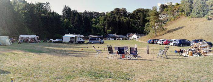 Zelteln in Niederbayern
