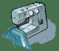 Illustration Nähmaschine