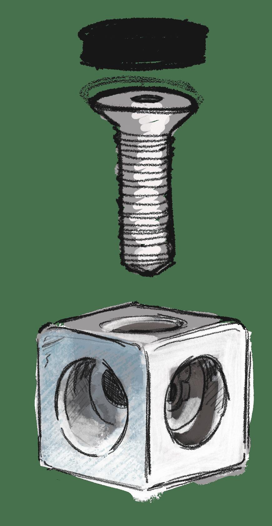Würfelverbinder frei