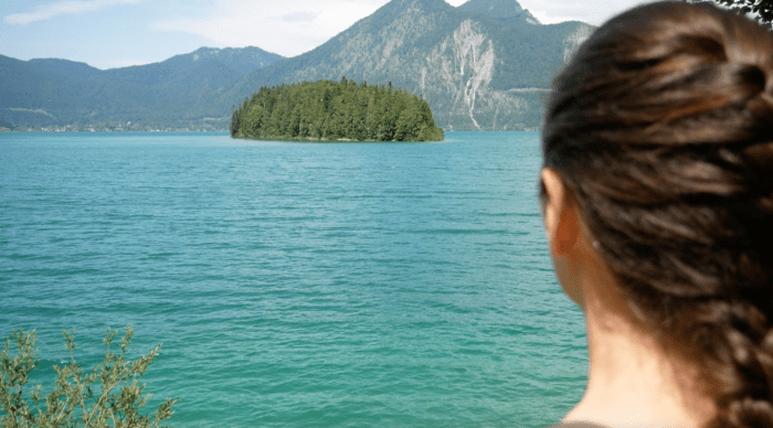 Blick auf Insel Sassau