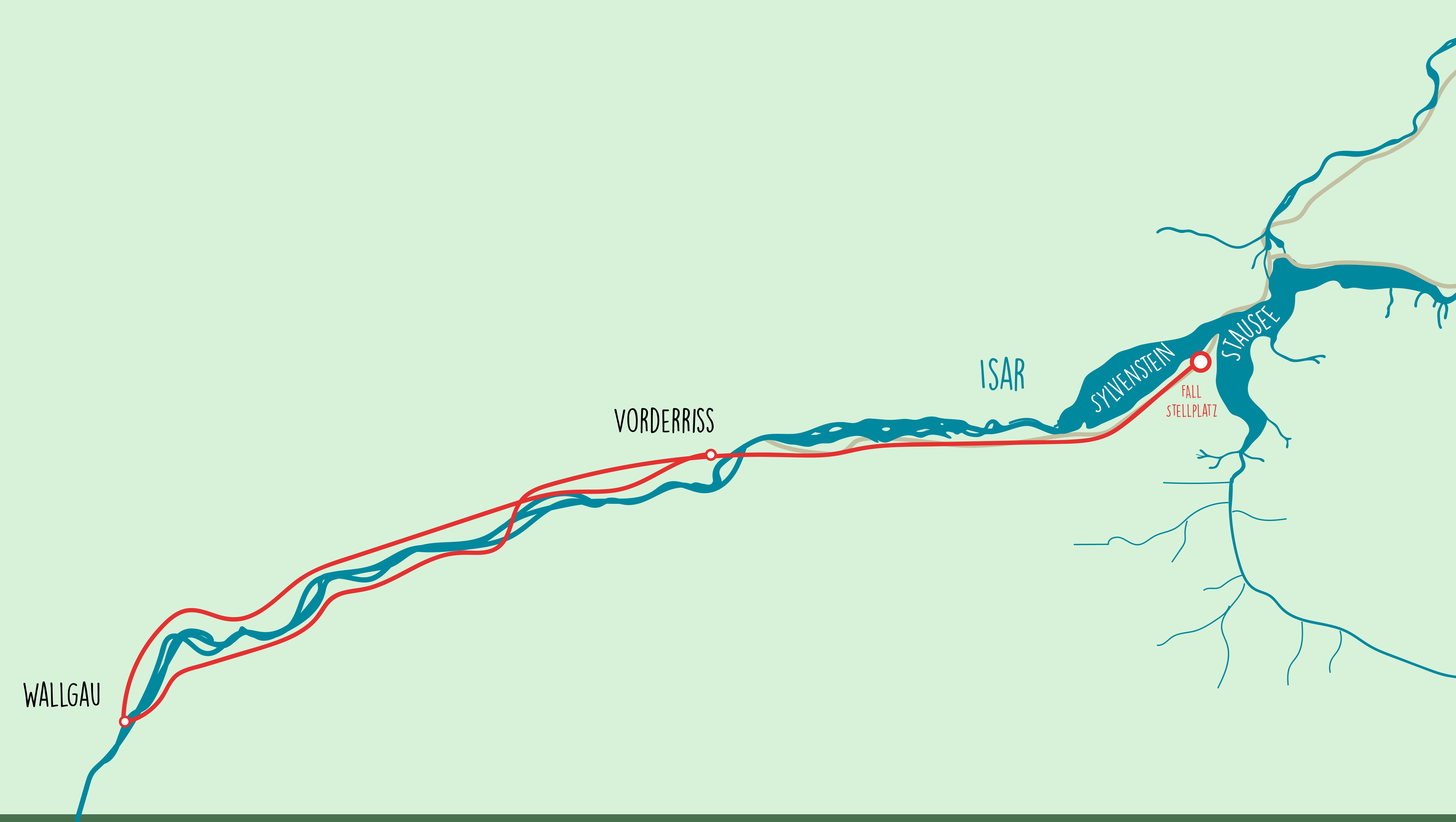 Eine abwechslungsreiche Strecke an der Isar entlang
