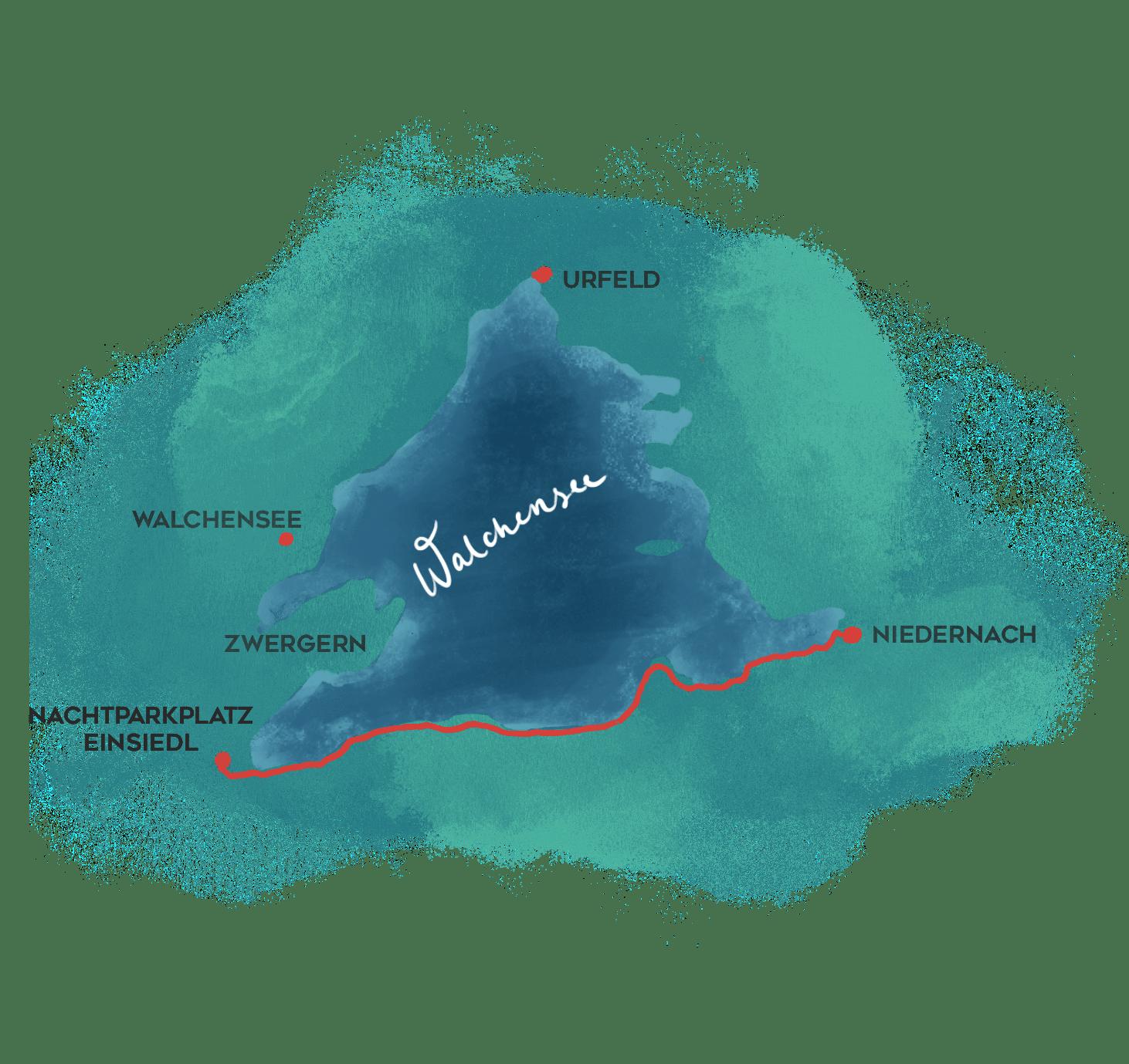Südseite Walchensee