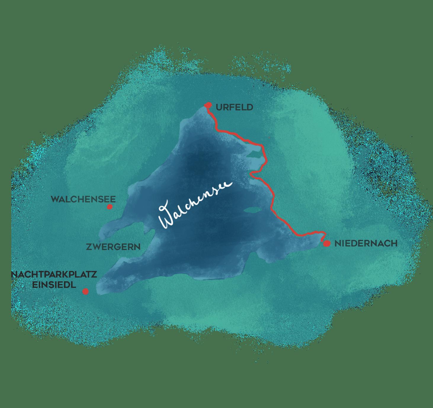 Ostseite Walchensee