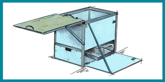Skizze Küchenbox