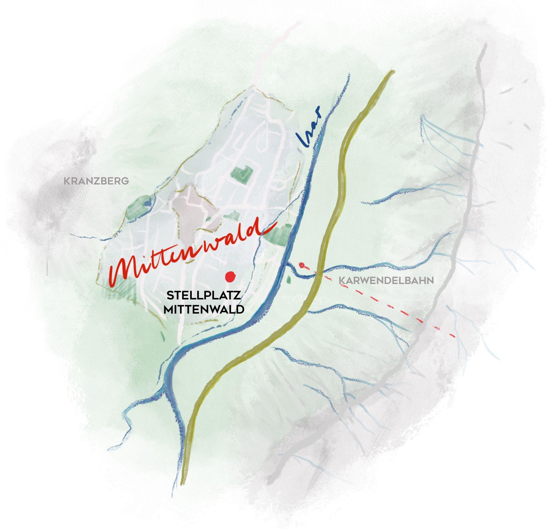Mittenwald Karte