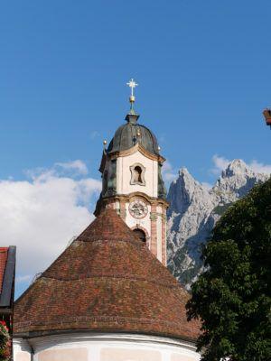 Mittenwald Kirchturm Berge