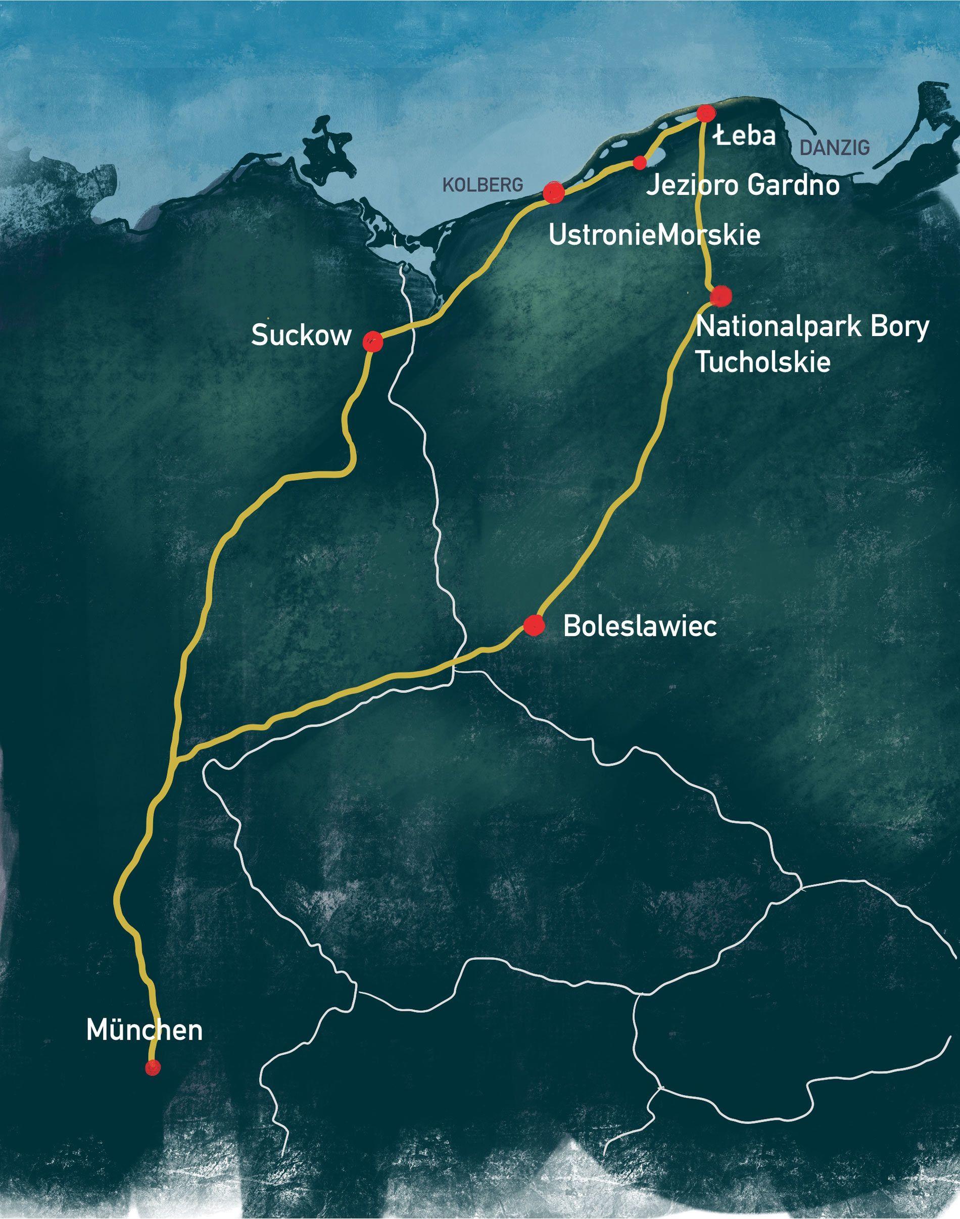 Karte Route Illustration kl