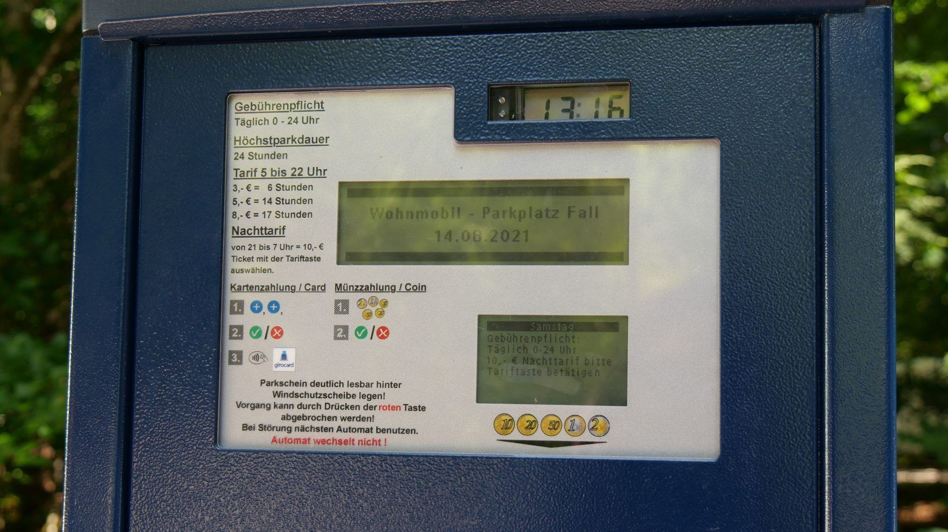 Parkautomat Sylvenstein edited
